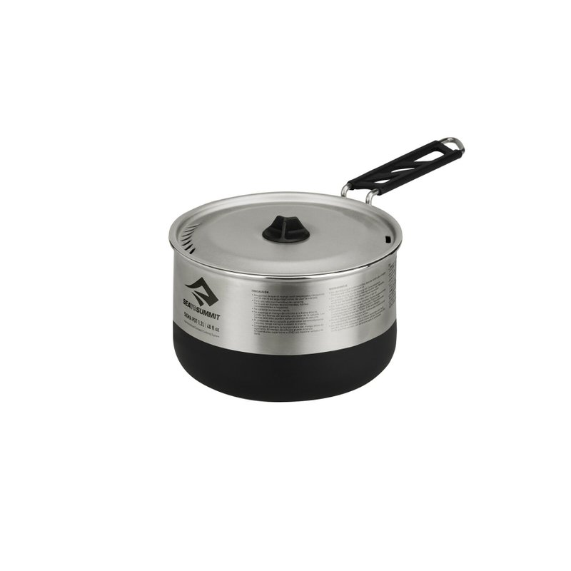 Каструля Sea To Summit Sigma Pot Black/Siver, 1200 мл (STS APOTSIG1.2L)