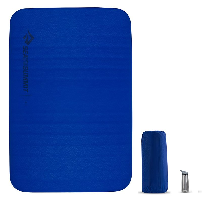 Самонадувающийся двухместный коврик Sea to Summit Comfort Deluxe Mat, 201х132х10см, Indigo (STS AMSICDD)