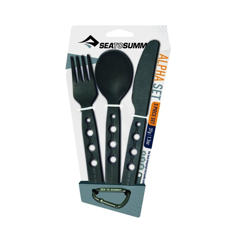 Набор столовых приборов Sea To Summit Alpha Cutlery Set Black (STS ACUTASET3)