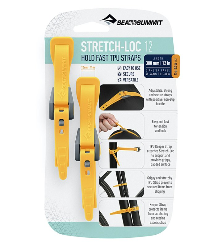 Набір стяжок Sea to Summit Stretch-Loc 12 12mm x 300mm 2 Pack, Yellow (STS ASLSTRP12X300YW)