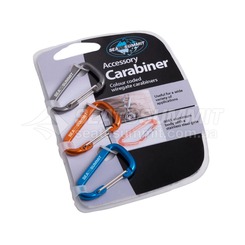 Карабин Sea To Summit - Accessory Carabiner 3 Pack Mix Color (STS AABINER3)