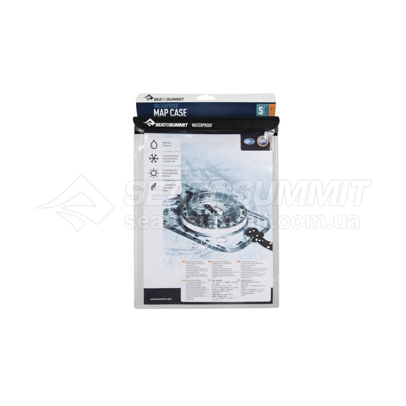 Гермочехол для карты Sea To Summit - Waterproof Map Case Black, 30 х 20 см (STS AWMCS)